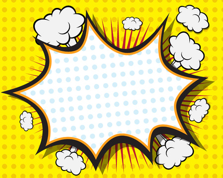 Comic Book Speech Bubble ,Pop art Background Vector Illustration