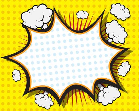 book: Comic Book Speech Bubble, Pop art pozadí vektorové ilustrace Ilustrace