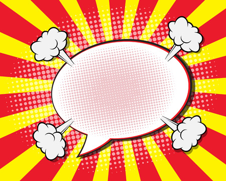 Comic Book Speech Bubble ,Pop art Background Vector Illustration