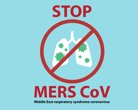 respiratory protection: Stop Mers Cov Sign Background Vector Illustration, Middle East respiratory syndrome coronavirus Sign