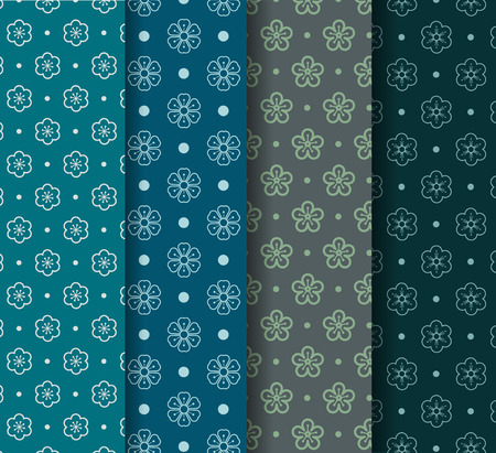Abstract Flower Seamless Pattern,Flower Seamless Pattern Japanese Chinese Style Background Vector Illustration