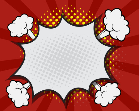 bubble background: Comic Book Speech Bubble,Pop art Cartoon Red Background Vector Illustration