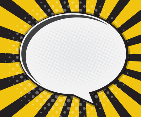 Comic Book Speech Bubble,Pop art Cartoon Yellow Background Vector Illustration 版權商用圖片 - 46046154