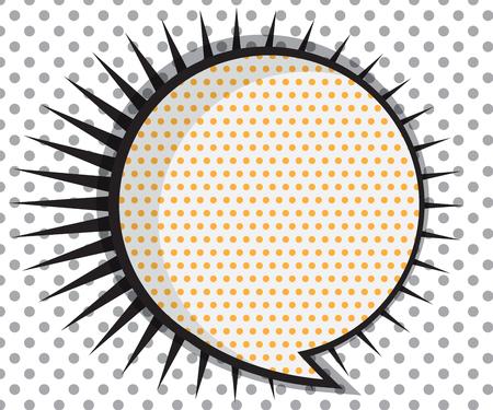 talk bubble: Speech Bubble Circle Shape with Thorn Corner Pop art,Comic Book Background Vector Illustration