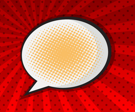 bubble background: blank speech bubble pop art background vector illustration