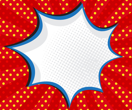 bubble background: speech bubble pop art,comic book background vector illustration
