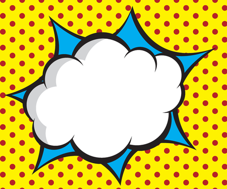 speech bubble pop art,comic book background vector illustration