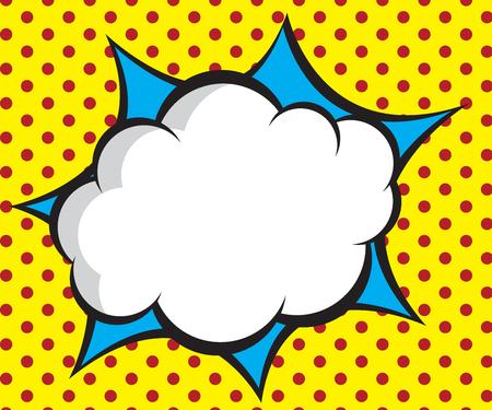 speech bubble pop-art, komiks tle ilustracji wektorowych