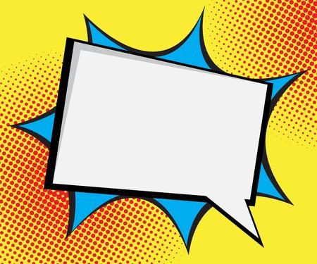 speech bubble pop art,comic book background vector illustration