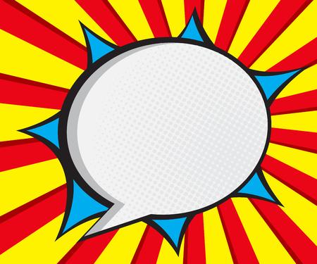 discurso arte de la burbuja pop, cómic ilustración vectorial