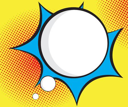 音声バブル ポップアート、漫画背景ベクトル イラスト