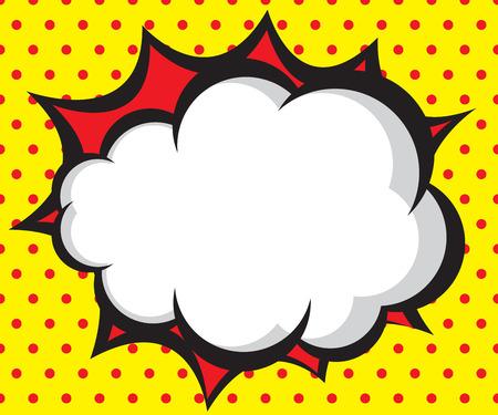tekstballon pop art, grappig boek achtergrond vector illustratie