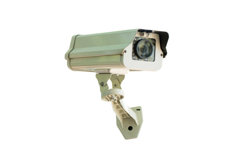 included: cctv camera  isolated on white background with clipping  path included