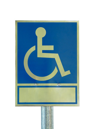 wheelchair access: disabled,handicap sign on white background