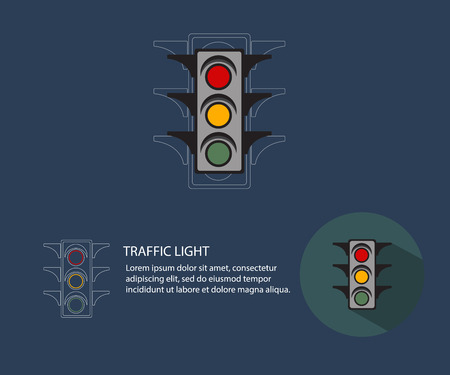 green light: traffic light,abstract traffic light flat style with long shadow illustration