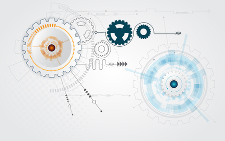 engineering design: abstract cog gear wheel technology background illustration Illustration