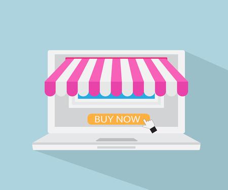 Online Store, Online Shopping, E-commerce Concept Vector Illustration Vektorové ilustrace