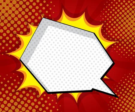 blank bomb: blank speech bubble explosion comic book, pop art background vector illustration