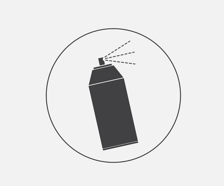 spray can: spray icon, spray can vector illustration Illustration