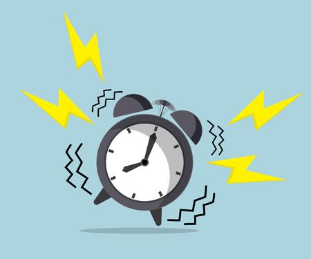 wakker tijd, bellende wekker vector illustratie