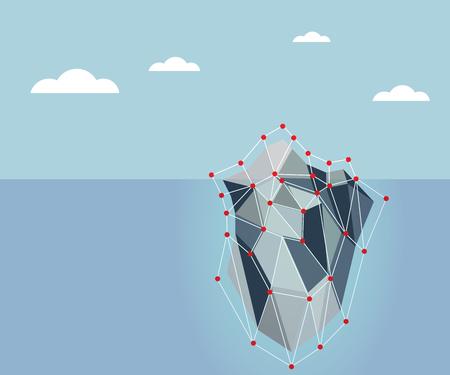 berg: ice berg polygon background vector illustration