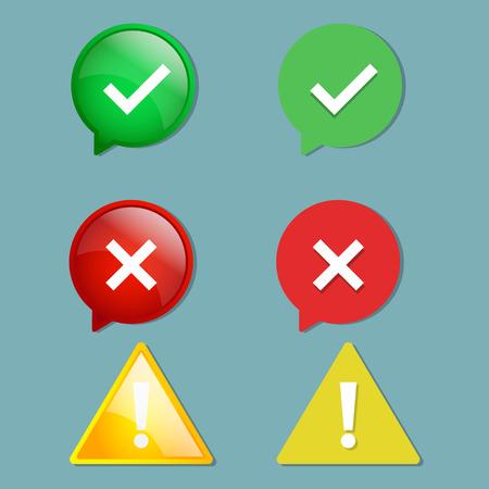 set of alert icon vector illustration