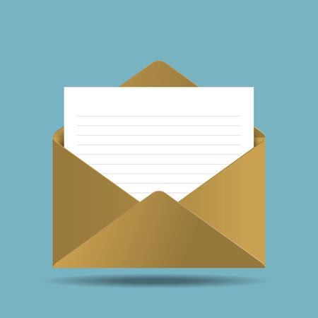 envelop: envelop with paper message vector illustration