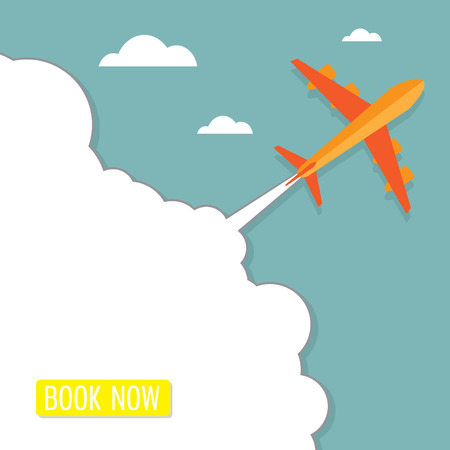 airplane ticket: airplane ticket booking concept background vector illustration