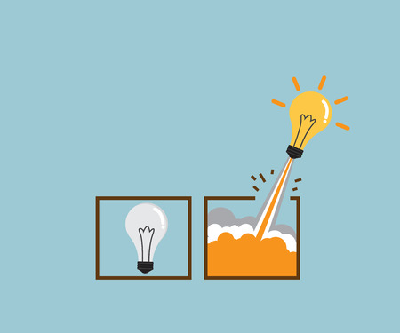 think out of box, creative idea concept vector illustration Illustration