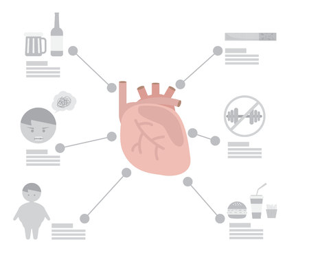 Infographic of heart disease factor health concept vector illustration