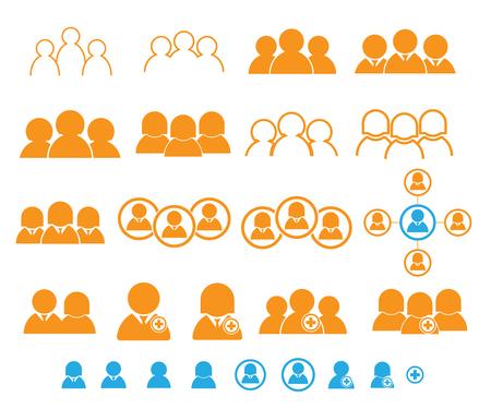 set of people, user, teamwork icon vector illustration
