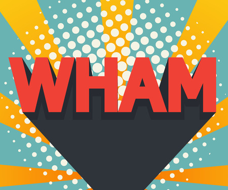 abstract wham pop art, comic book background with retro color vector illustration