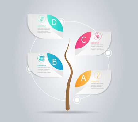 Abstract tree infographic element vector illustration 向量圖像