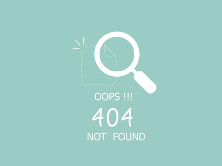 illustrateur de la page d'erreur Oops 404 non trouvée