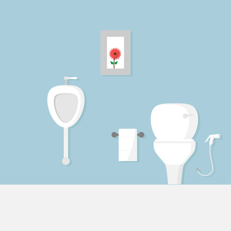 illustration of toilet flat design vector