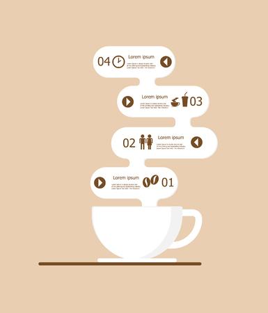 illustratio of coffee infographics vector background