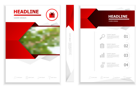 illustration of business brochure design template  cover book portfolio presentation poster. in A4 layout. flyers report vector background