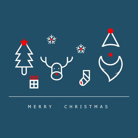 vector illustration of christmas decoration flat design background