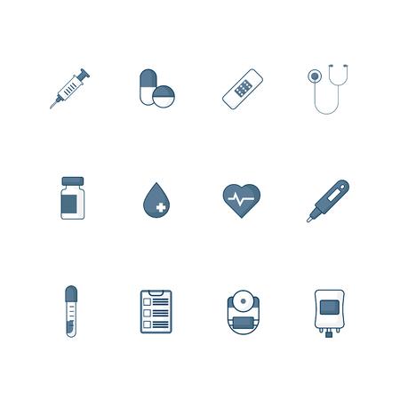illustration of medical icon set flat design Illustration