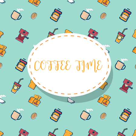 illustration of coffee times pattern vector background