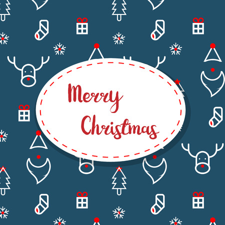 illustration of merry christmas decoration pattern vector background