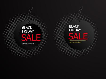 illustration of black friday sale tag label vector background Illustration
