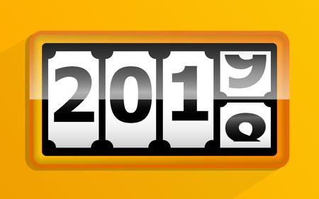 illustration of 2018 change to 2019 calendar vector background