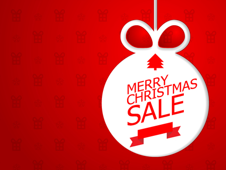 illustration of merry christmas sale vector background
