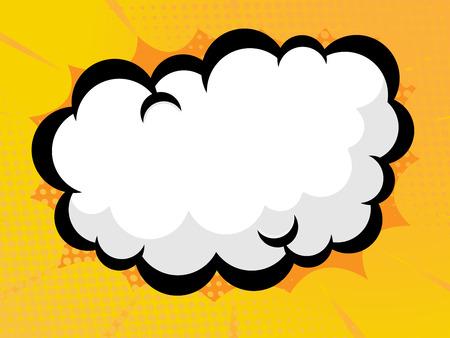 abstract comic book, pop art blank speech bubble vector background Illustration