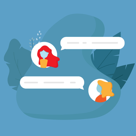 illustration of chat conversation message flat design vector background Stock Vector - 124170668