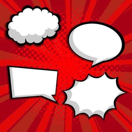 abstract pop art, comic book blank speech bubble vector illustration background Illustration