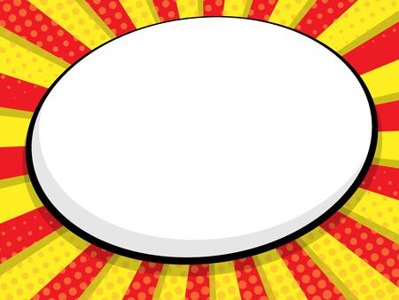 abstract blank speech bubble comic book, pop art vector background Illustration