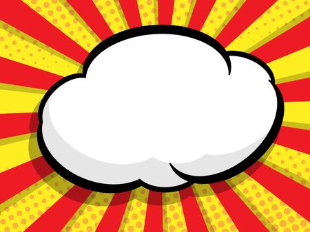 abstract blank speech bubble pop art, comic book vector background