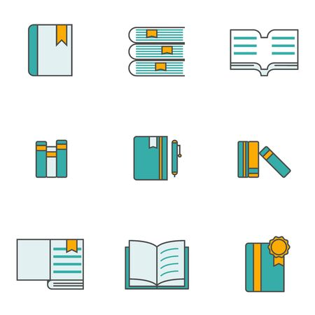 set of books icon vector illustration simple flat design Stock Illustratie